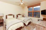 2nd guest bedroom with 2 twin beds, which can be converted into a king-sized bed for a $50 fee