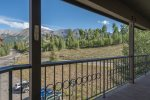 As you walk on the exterior hallway to the unit, you can enjoy the views