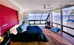 Master Bedroom with Beautiful Views of Sail Bay Sleek Retreat Mission Bay Vacation House Rental