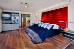 Master Bedroom With Flat Screen TV Sleek Retreat Mission Bay Vacation House Rental