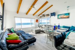 Ocean Front Luxury Beach House #5 - Sleeps 6 to 8 - Penthouse View - 180 degrees Full Ocean Views