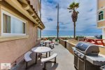 Patio right outside your door with BBQ and Dining furniture,  San Diego Beach Vacation Rental
