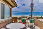 Outside Patio on Boardwalk just steps from the Sand,  San Diego Beach Vacation Rental