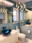 Beautiful bathroom with custom lighting