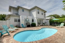 Private Pool | 5*Clean | Flex Cancelation | Concert Tickets | Beautiful family Beachside Tybee Vacation Home with Private Pool and Large Porch with Ocean Breeze!