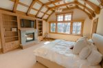 BR 1- King Master Suite with TV, Gas Fireplace, Baldy Views