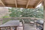 Furnished -summer only- Deck with Gas Grill off Living Area