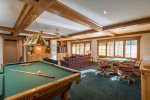 Game Room with Pool Table, Game Table, TV, and Wet Bar