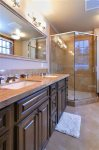BR 2- En Suite Bath with Glass Shower, Dual Vanities