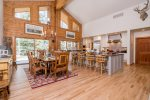 Gourmet Kitchen and Dining Area with Seating for 8