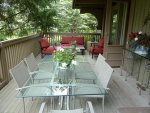Large Furnished Deck with Gas Grill