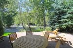 Riverfront Furnished Patio with Grill