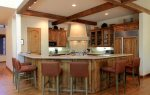 Gourmet Kitchen- Granite Counter Seating for 6