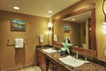 BR 2- Adjacent Guest Bath with Dual Vanities, Glass Shower and Tub