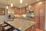 Fully Stocked Kitchen with Stainless Steel Appliances, Gas Cooktop