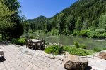 Waterfront Furnished Patio and Private Hot Tub with Baldy Views