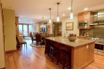 Gourmet Kitchen, Wolf Range, Granite Counter Seating with