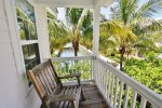 The Spacious Master Bedroom is Furnished with a King Sized Bed  Florida Keys Vacation Rental