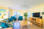 The Living Area is Centered Around the Large Cable Equipped Television  Florida Keys Vacation Rental
