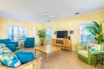 Tropical Landscaping and Swaying Palms Surround the Shady Back Porch  Florida Keys Vacation Rental
