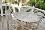 Enjoy a Meal Outside on the Lower Level Deck  Florida Keys Vacation Rental
