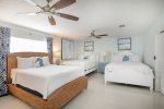 The Master Bedroom is Furnished with a King Sized Bed  Florida Keys Vacation Rental