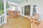 Indigo Reef 10 Features a Spacious Back Porch  Florida Keys Vacation Rental
