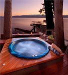 Relax in our private back deck Jacuzzi