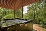 Large Hot Tub on the Basement Level Porch