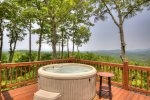 Hot Tub on the main floor open deck
