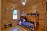 Main Floor Bedroom with Bunk Beds, Full Size on Bottom and a Twin on Top