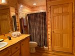 Lower Level bathroom with a walk-in shower