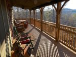 Large Back Porch with Rocking Chairs