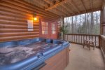 Hot Tub on the Lower Level Screen Porch