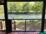 View of the river from the diningroom table
