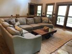 Living Room with Large Sectional, Gas-Log Fireplace and Flat Screen TV