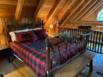 Open Loft Bedroom with a Queen Bed and a Private Porch