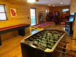 Game Room has a Kids Pool Table, Foosball Table and Shuffle Board