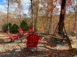 Fire Pit with 4 Chairs and Swing