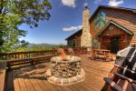 Open Deck with a Fire Pit
