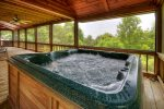 Hot Tub on the Main Floor Screened in Porch