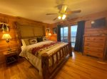 Loft Master Bedroom with a King Bed and a Gas-Log Fireplace