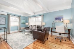 Completely Renovated and Fully Furnished 1 Bedroom 1 Bath Open Concept Condo with Cathedral Ceilings