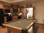 Downstairs - Pool Table & Kitchen Area