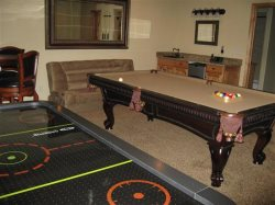 Downstairs - Game Room with Pool Table, Air Hockey, Foosball and Many Games