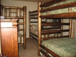 Downstairs - Bunk Room with Queen over Queen, Full over Full and Twin Over Twin - 6 Bed Surfaces