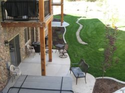 Birds Eye View of Private Hot Tub and Patio