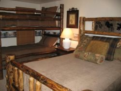 Lower Level - Family Suite - Queen Bed and Extra Long Twin over Twin Bunks