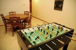 Downstairs - Game Room with Foosball and Game Table
