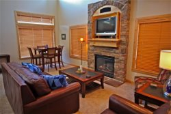 Main floor - Great room with gas fireplace and blue-ray DVD player